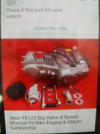 Pit bike engine 125cc big valve
