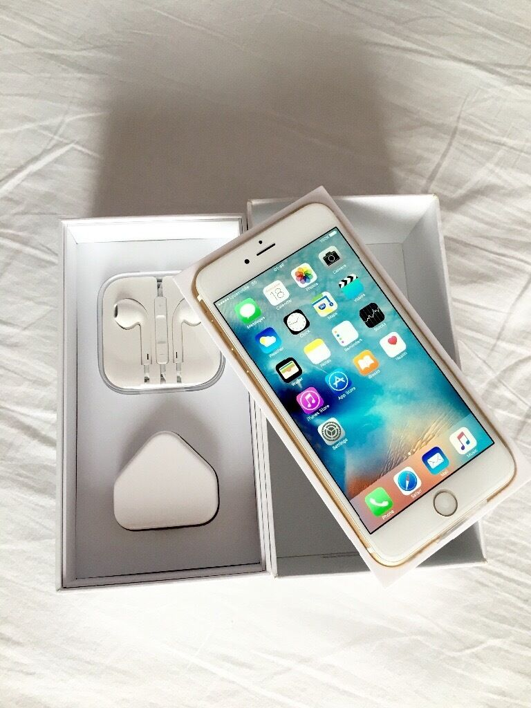 iPhone 6 Plus 16GB GOLD Colour Factory Unlocked sim free in box with all accessories for salein LondonGumtree - iPhone 6 Plus 16GB GOLD Colour Factory Unlocked sim free in box with all accessories for sale iPhone 6 Plus 16GB Gold colour in very good condition as new and all in perfect order Comes in box with all accessories Its factory unlocked to all networks...