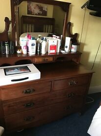 Antique Edwardian Solid Mahogany Dressing Table (Can Deliver)