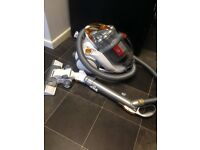 White Dyson dc08 pull along hoover