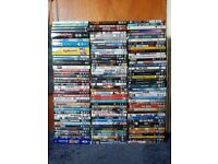 Job lot of 125 DVDS and boxes. Ideal for resale or carboot