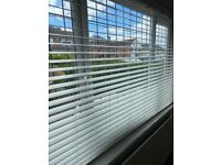 White window wooden blinds