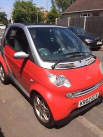 SMART CITY CABRIOLET/CONVERTIBLE 599CC, 1 Year MOT