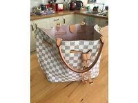 Louis Vuitton Damier Azur Ladies Tote Bag with Handles & Strap