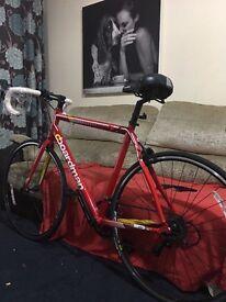 Red Boardman road bike 2014