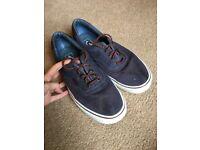 Blue/Leather Vans UK11