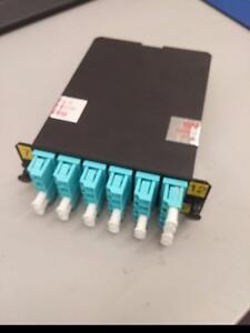 PANDUIT | FCX-24-10Y  24-Fiber Cassette OM3 50µm 12 Duplex LC to MPO Standard Method A