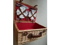 Wicker Picnic Hamper for Four - Never Used