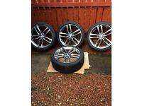 Like new BMW 1 or 2 series M sport 18 inch BMW alloy wheels with like new Bridgestone run flat tyres