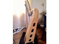 36 String Heritage Ash Wood Celtic Harp (Full Levers)