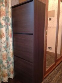 3 draw shoe storage cabinet as a new for sale