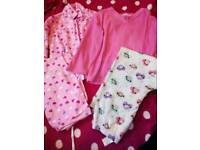 5-6 year old girls pyjamas and vest