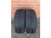 2x 235 50 R18 Tyres 101Y XL Windforce 7mm