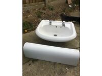 For sale sink and pedestal