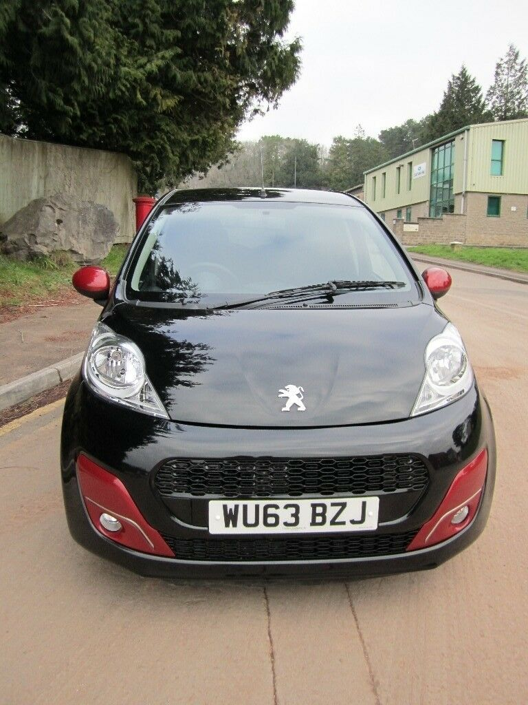 2013 Peugeot 107 Active Black 998cc Manual Petrol 5 Door Hatchback £0 Road Tax Cheap To Run