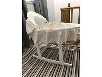 Classic Rocking Moses Basket and stand