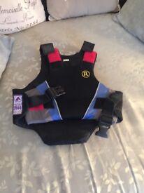 Child's horse riding protective vest