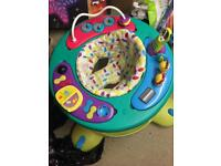 Musical activity baby walker