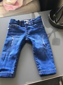 Baby girl 0-3 river island jeans only 5pound