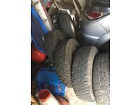 X5 vitara off road tires 5steel wheels with 5 good tires