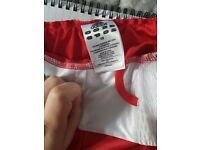 Xs red boxing shorts