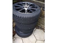 4x Alloy wheels and tyres