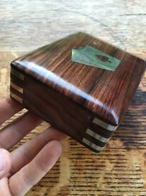 Wooden Playing Card Box - Great for Poker