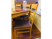 6 seater wooden dining table with chairs just for £30