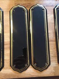Victorian original finger plates and escutcheons
