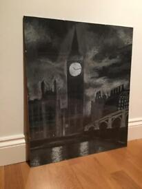 Original charcoal drawing of London