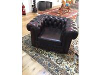 Leather Chesterfield club arm chair