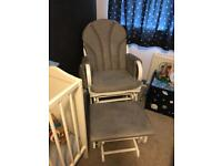 Baby nursing rocking chair and stool