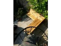 Reclaomed scaffold bench