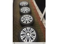 Mercedes e class alloys - set of 4 genuine - with tyres