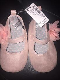 Next Baby Girl Ballerina Shoes Size 4 18-24 months