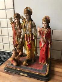 Beautiful Large Ornate Ram Darbur Hindu God Statue