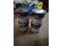 Dulux paint various colours unopened tins
