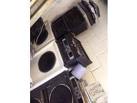 dj reggae dnb mixer set up numark mixer and cd mixer pro sound amps numark deck