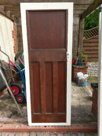 Eight 1930's vintage 1 over 3 panelled doors for sale in Porthill