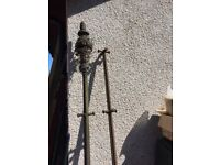 Antique Old Cast Iron Clothes Poles. £50