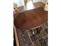 Gorgeous dark wood folding side table