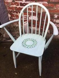 Wooden green decorative chair