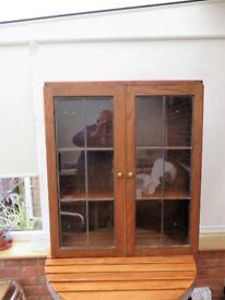 Wall Leaded Light Display Cabinet