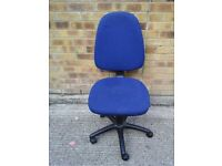 Blue material office chair