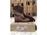 NEXT Brand New Suede Mink Slouch Boots