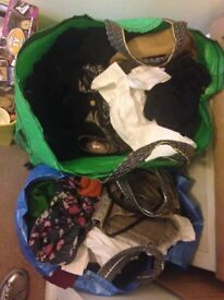 Clothes, jewellery and household rummage items for sale