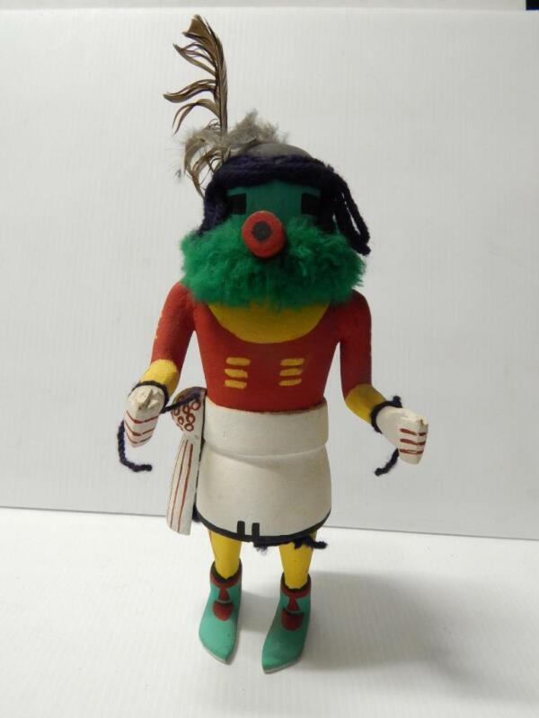 MID CENTURY VINTAGE HOPI PUEBLO INDIAN stiff arm style KACHINA - c1940-50s - XLT
