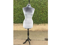 Mannequin , black base grey velour body . £50 each 3 available ........