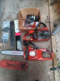 2 x Husqvarna 339xp professional chainsaws including spare bars and chains