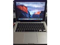 Apple MacBook 13 inch Aluminium 2GHz Core 2 Duo 4GB RAM Mac OS 10.11